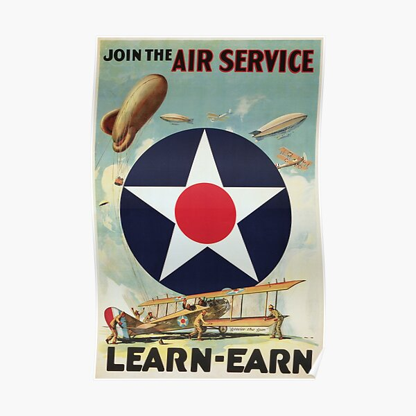WW2 Vintage Air Force Poster Poster