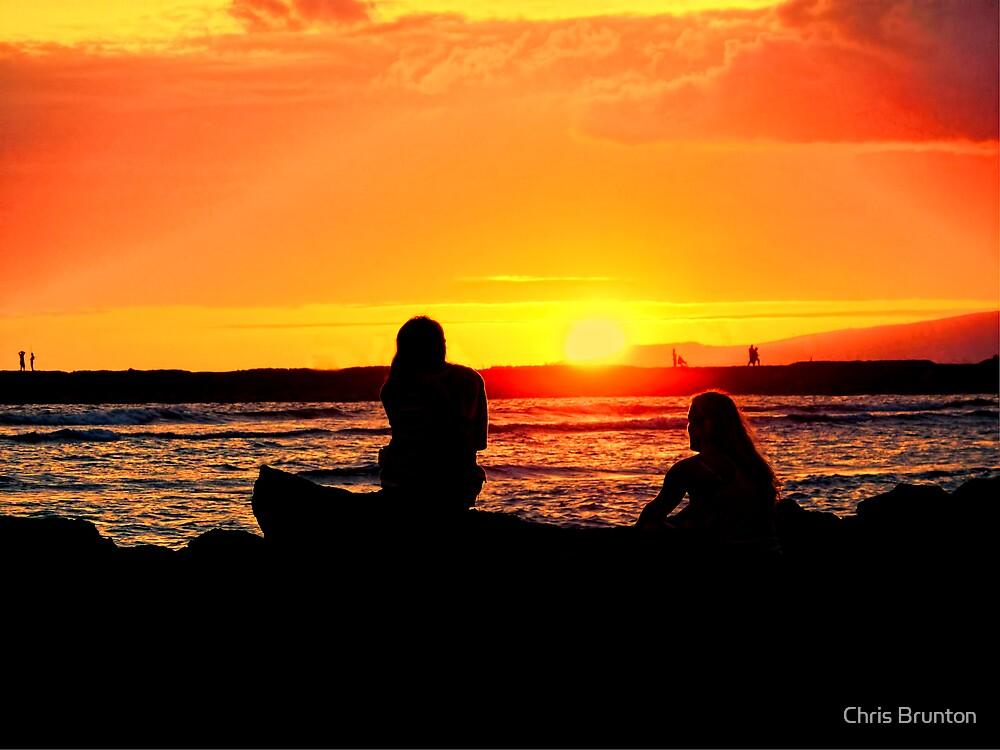 Sunset silhouette by Chris Brunton