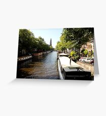 Amsterdam Canals Greeting Card