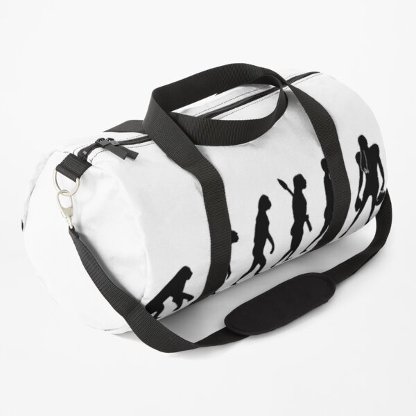 Female American Footballer Evolution of Man  Duffle Bag