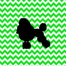 Irish Green Chevron with Poodle by pjwuebker