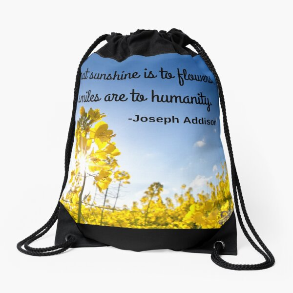 What sunshine is to flowers Drawstring Bag