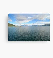 Beautiful white clouds over the Atlantic Ocean Canvas Print