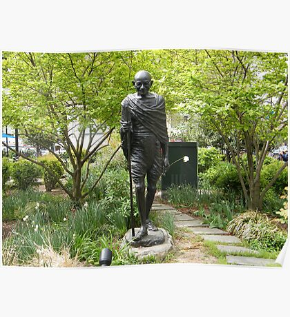 Gandhi Statue, Union Square Park, New York City  Poster