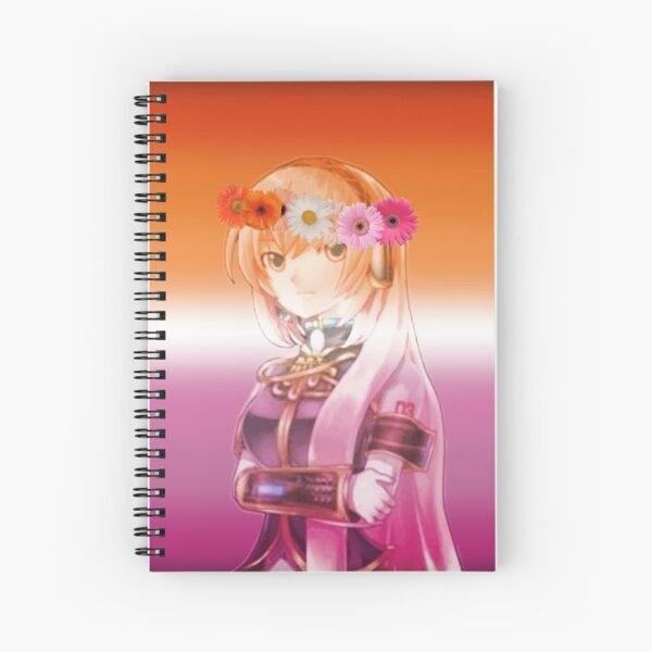 Megurine Luka Lesbian Pride  Spiral Notebook