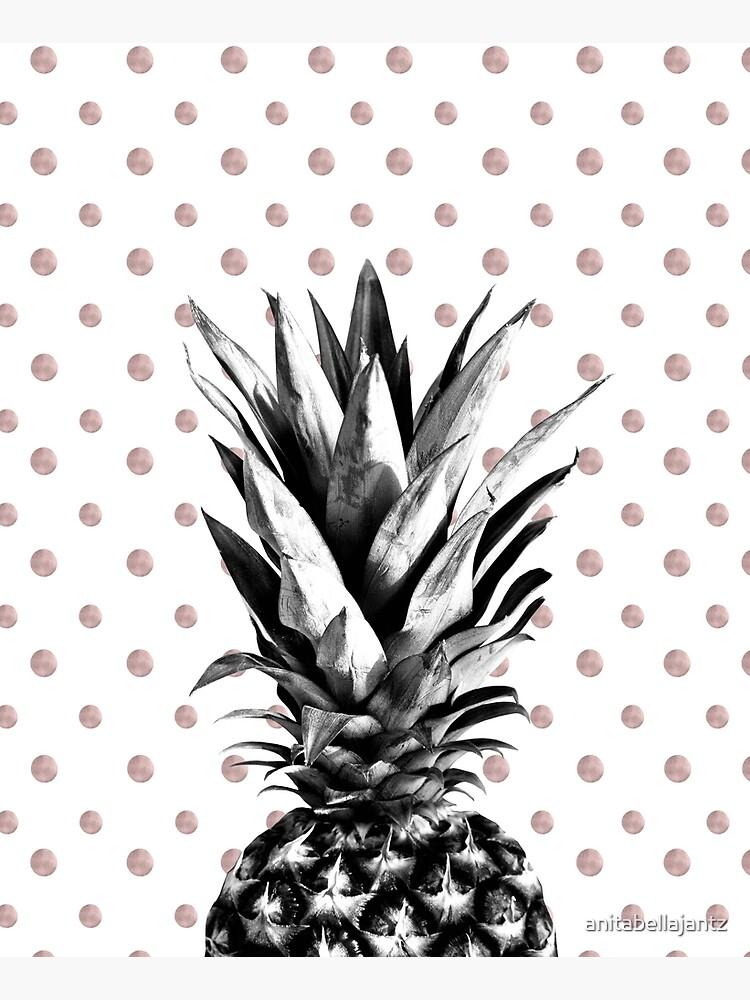 Pineapple Happy Polka Dots Dream #1 #tropical #fruit #decor #art by anitabellajantz