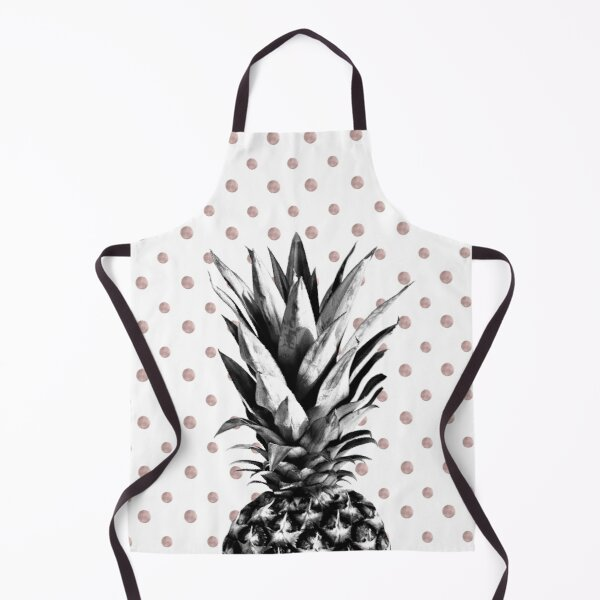 Pineapple Happy Polka Dots Dream #1 #tropical #fruit #decor #art Apron
