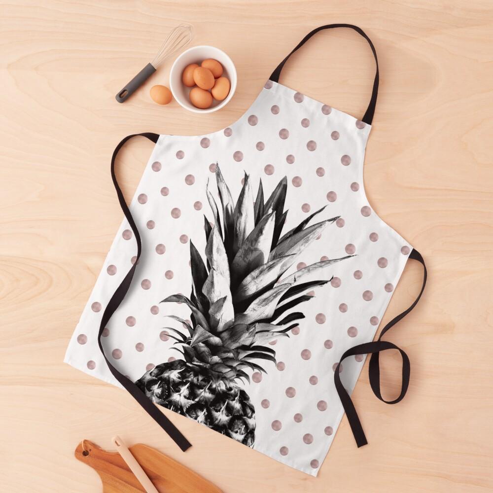 Pineapple Happy Polka Dots Dream #1 #tropical #fruit #decor #art Apron