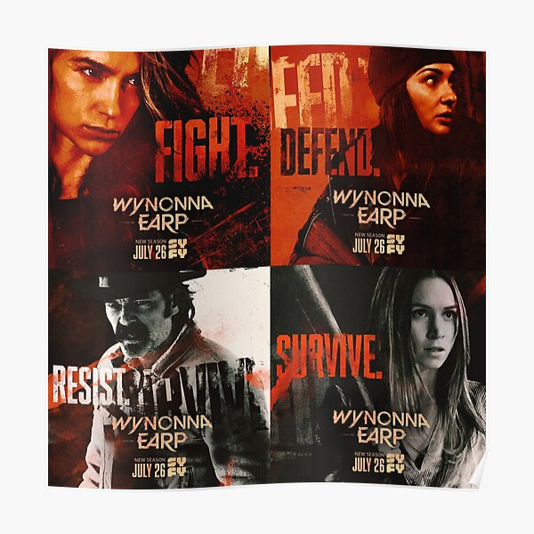 WYNONNA EARP POSTERS COLLAGE SEASON 4 2020 Poster