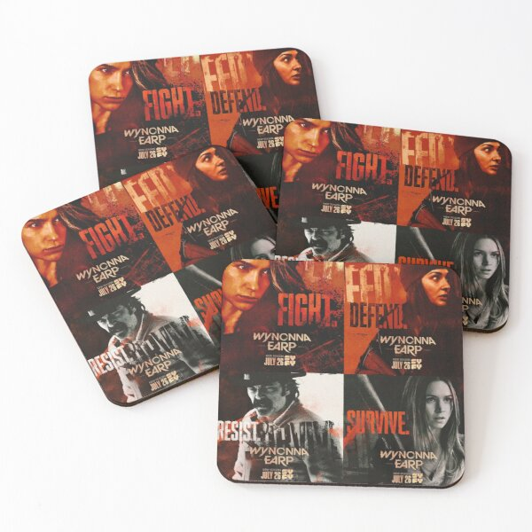WYNONNA EARP POSTERS COLLAGE SEASON 4 2020 Coasters (Set of 4)