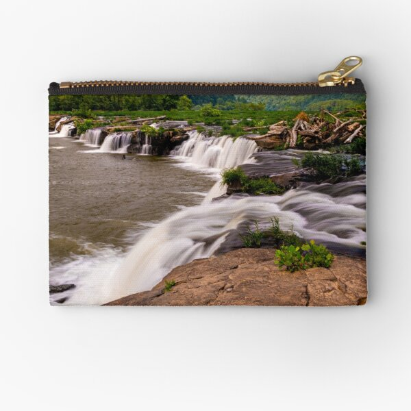Sandstone Waterfall at Dawn Zipper Pouch