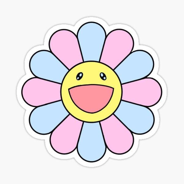 Murakami Pastel Flower Pegatina