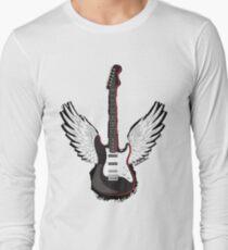 Winged Guitar Long Sleeve T-Shirt
