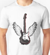 Winged Guitar Unisex T-Shirt
