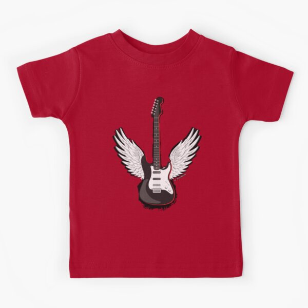 Winged Guitar Kids T-Shirt