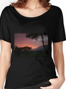 Storm Clouds And Sunset Over Sakartepe, Akyaka Women's Relaxed Fit T-Shirt