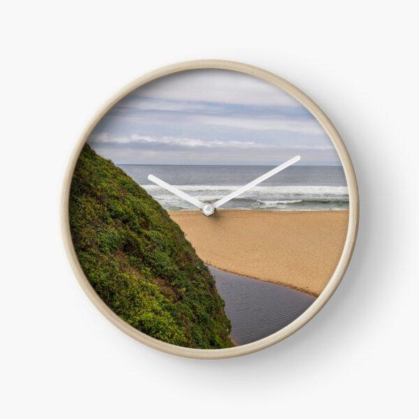 Montara Beach California Panorama Color Clock