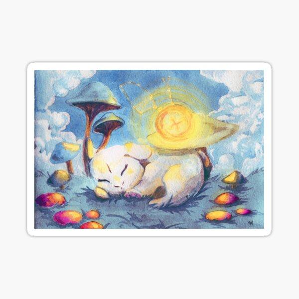 Birth of the White Rabbit   Alice in Wonderland Sticker