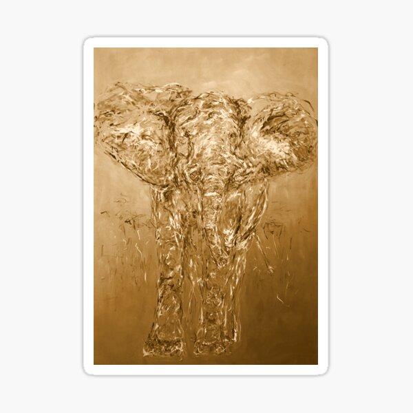 Elefant in Afrika, gold Sticker