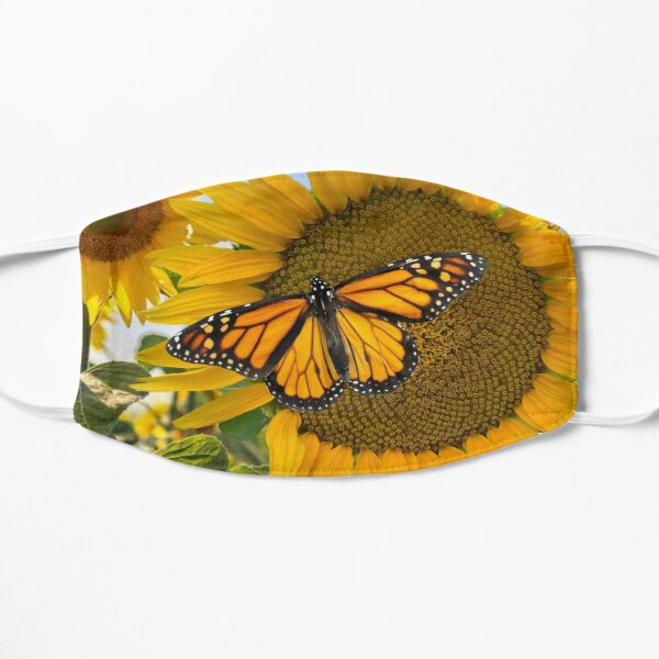 Monarch Sunflower Flat Mask