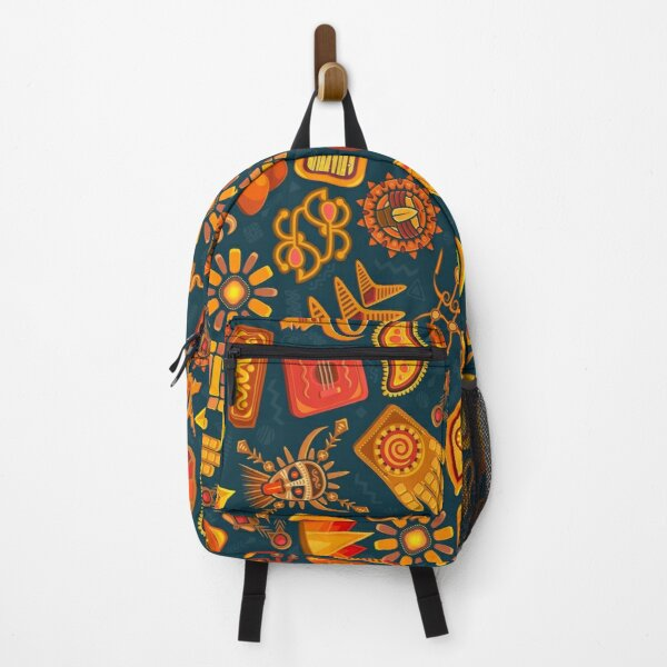 African Traditional Native Pattern On Shirts Bags And Home Decor Backpack