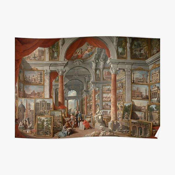 Modern Rome (1757) - Giovanni Paolo Panini Poster