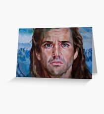 Mel Gibson in Brave heart Greeting Card