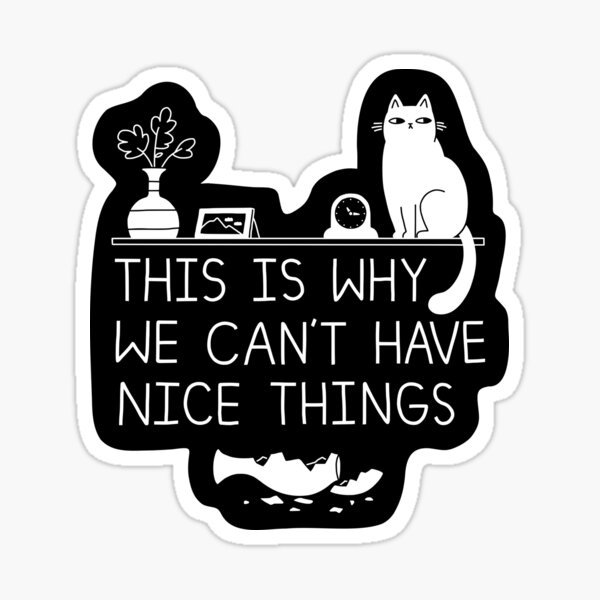This Is Why We Can't Have Nice Things Sticker