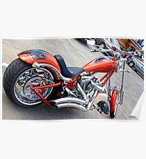Red & Chrome Chopper Poster