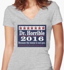vote Dr. Horrible 2016 Women's Fitted V-Neck T-Shirt