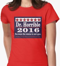 vote Dr. Horrible 2016 Womens Fitted T-Shirt