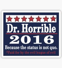 Vote dr. horrible 2016 Sticker