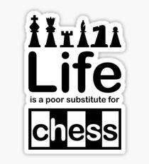 Chess v Life - Carbon Fibre Finish Sticker