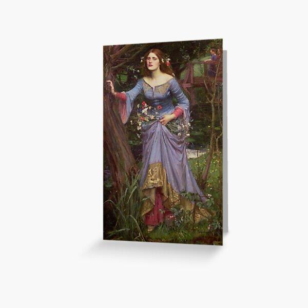 "Waterhouse's ""Ophelia"" Greeting Card"