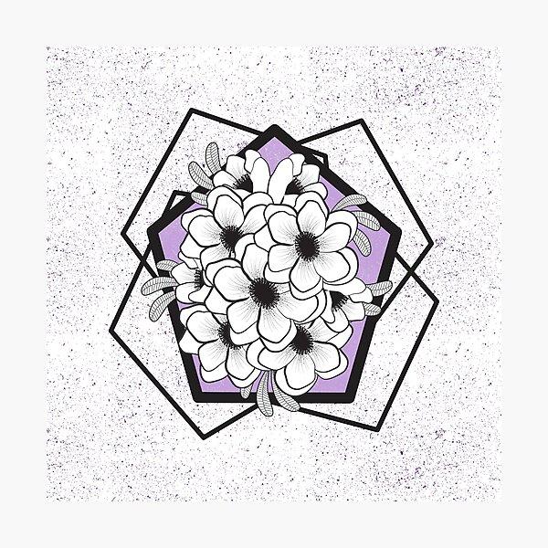 Lilac Anemones Photographic Print