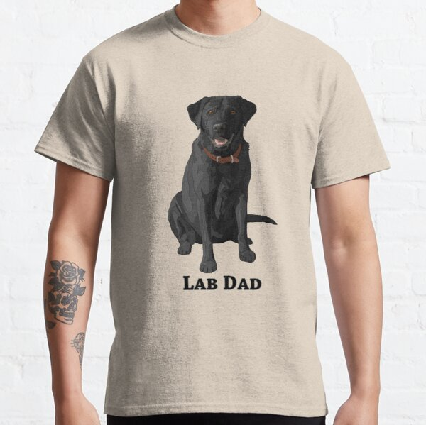 Black Labrador Retriever Lab Dad Classic T-Shirt