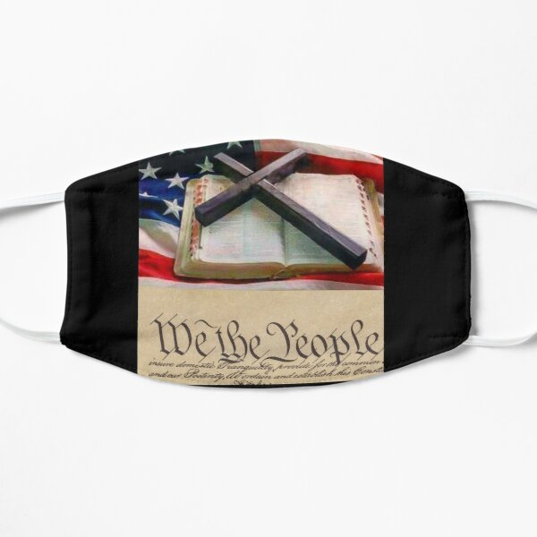 Christian American flag We the people Patriot mask Flat Mask