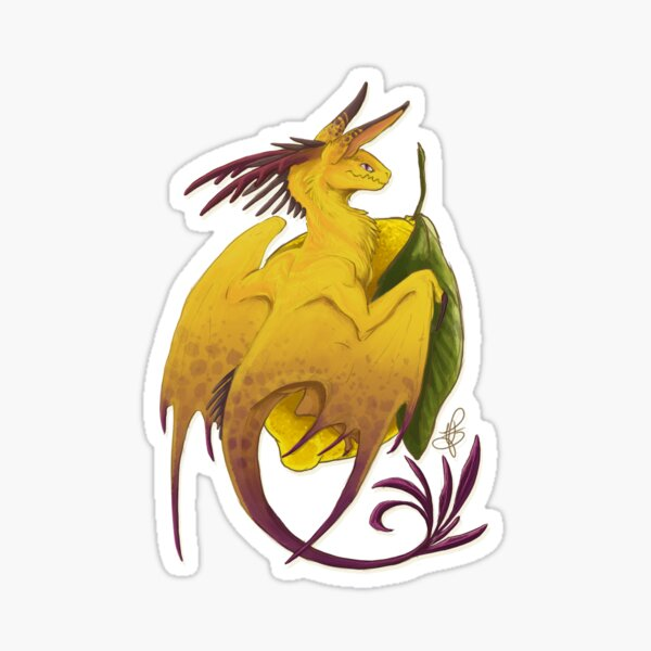 Lemon Dragon Sticker