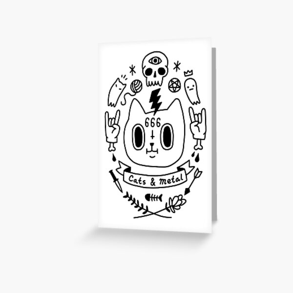 Cats and Metal Greeting Card