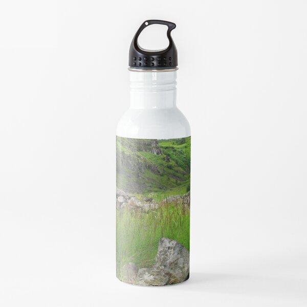 Watercolor Landscape, Fossarett 04, Iceland Water Bottle