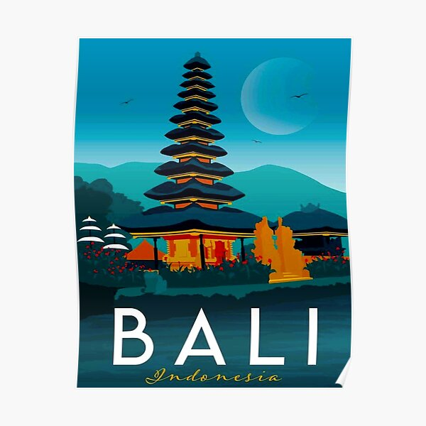 See Bali Indonesia Indonesian Woman Vintage Travel Advertisement Art Poster