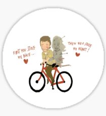 the walking heart/bike Sticker