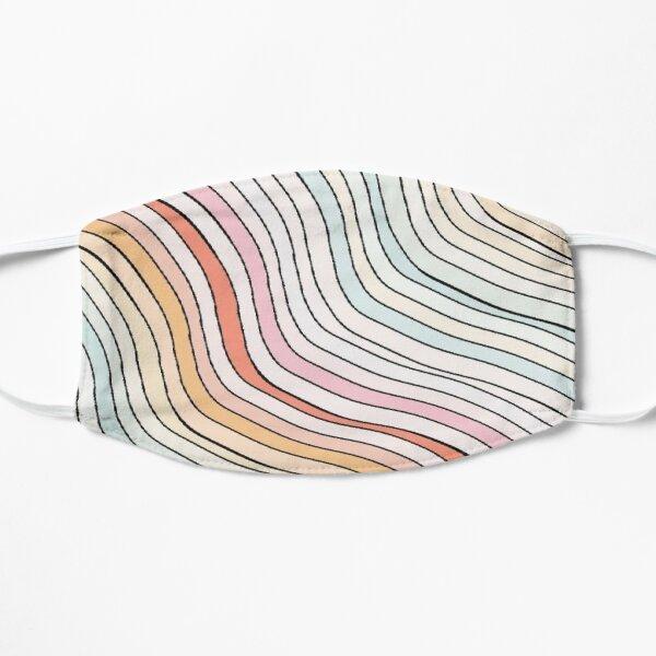 rainbow waves Flat Mask