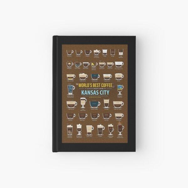 Kansas City, Missouri, United States of America, USA Coffee Types Chart Hardcover Journal