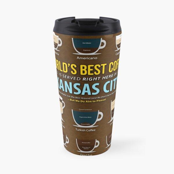 Kansas City, Missouri, United States of America, USA Coffee Types Chart Travel Mug