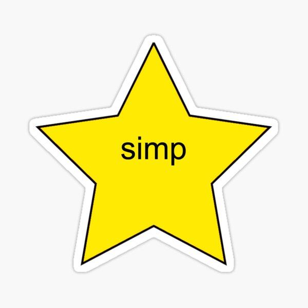 Proud Simp Sticker