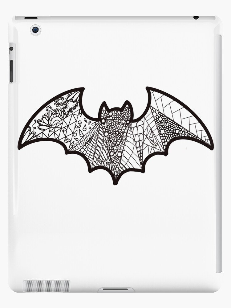 Zentangle Halloween Bat Ipad Case Skin By Tgfontaine Redbubble