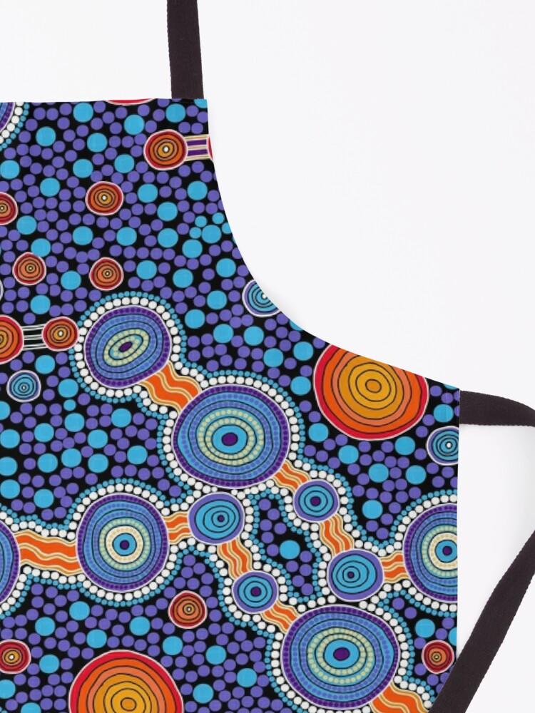 Alternate view of Authentic Aboriginal Art - The Journey Blue Apron