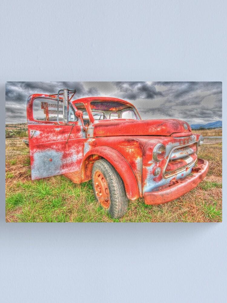 Alternate view of Rusty Dodge Pickup Truck Canvas Print