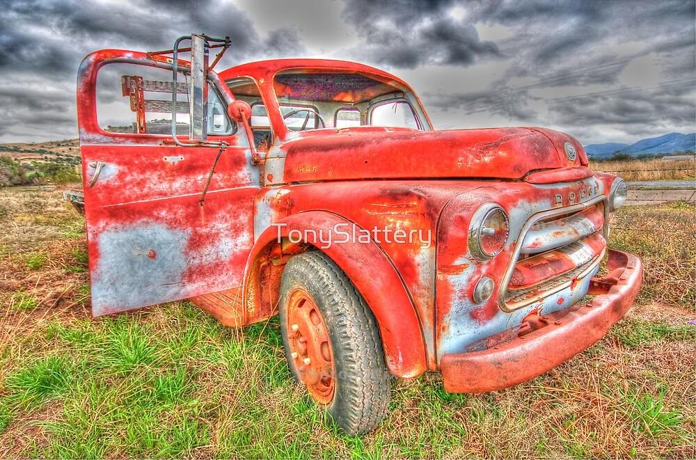 Rusty Dodge Pickup Truck by TonySlattery